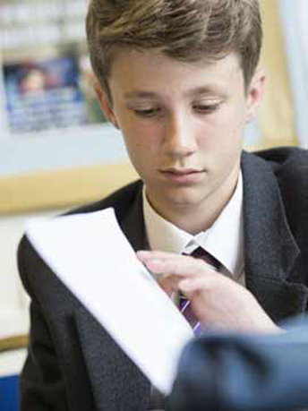 GCSE Student in a Classroom