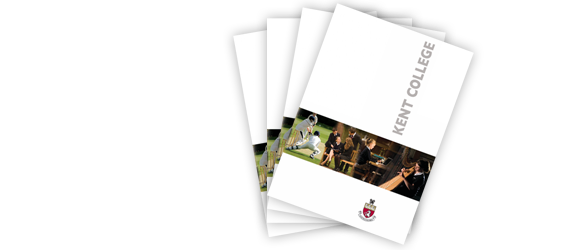 Image of the front cover of the Kent College School prospectus