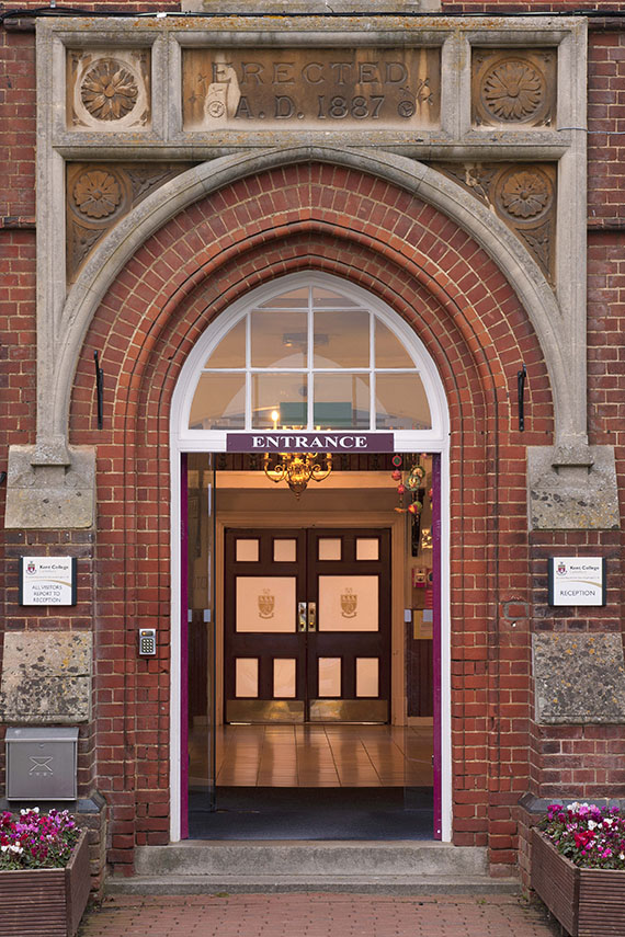 Photo of the Kent College School Entrance