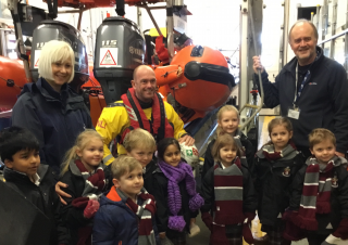 Reception visit to the RNLI Lifeboat Station